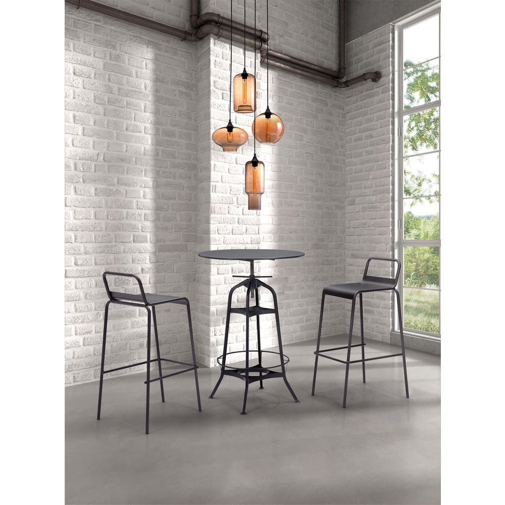 Zuo Lambie 4 Light Rust And Amber Ceiling Lamp 98425 The