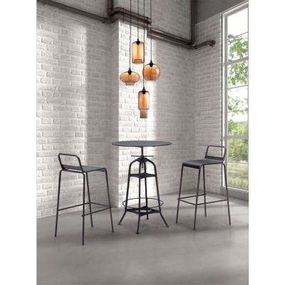 Lambie 4-Light Rust and Amber Ceiling Lamp