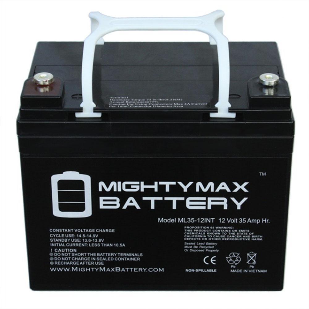 12-Volt 35 Ah Rechargeable Sealed Lead Acid (SLA) Internal Thread Battery