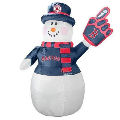 7 ft. Boston Red Sox Inflatable Snowman