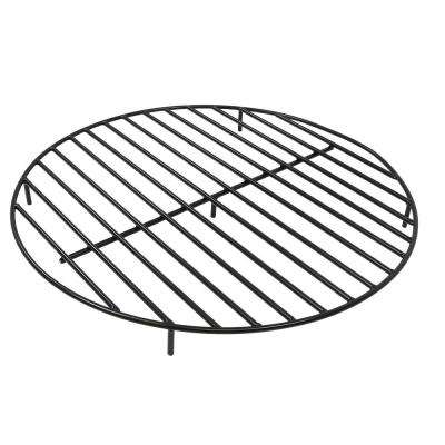40 in. Round Black Steel Fire Pit Firewood Grate