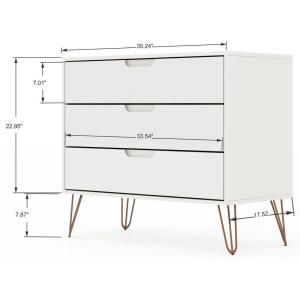 new concept e1fa3 9c111 Luxor Intrepid 5-Drawer White Mid-Century Modern Dresser and ...