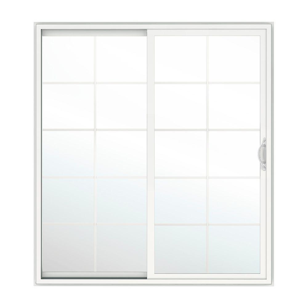 Andersen 60 in x 80 in 400 series frenchwood white left for Home depot andersen sliding glass patio doors