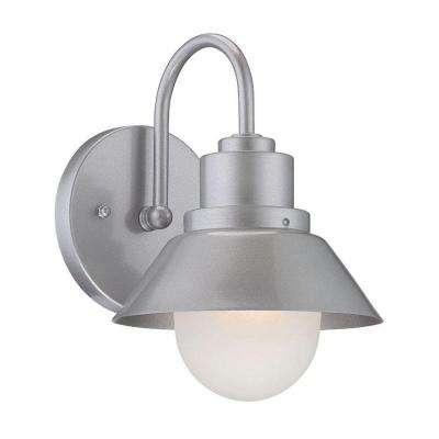 Astro 1-Light Brushed Silver Wall Lantern Sconce