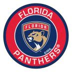 NHL Florida Panthers Red 2 ft. x 2 ft. Round Area Rug