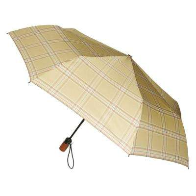 44 in. Arc Canopy 3 Sectional Telescopic Mini Auto Open Auto Close Umbrella in Urban Safari