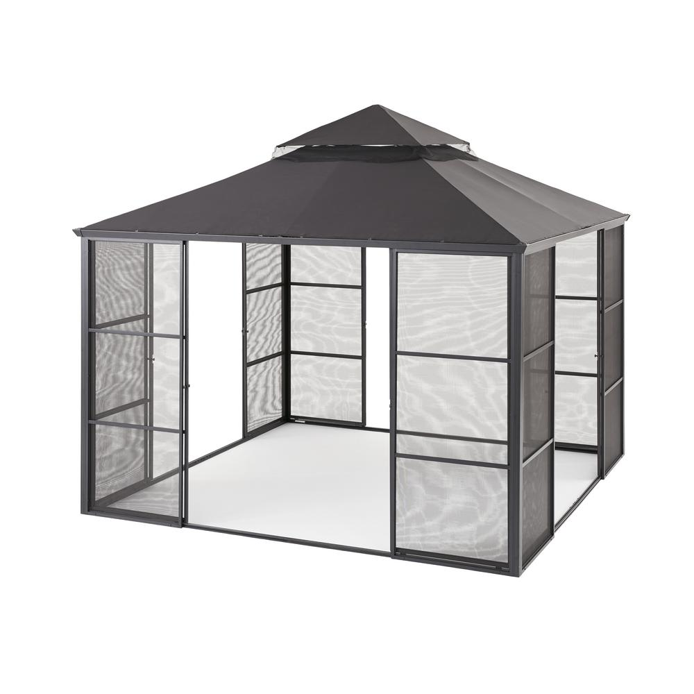 Aluminum Full Screen Sliding Door Gazebo  sc 1 st  The Home Depot & Gazebos - Sheds Garages u0026 Outdoor Storage - The Home Depot