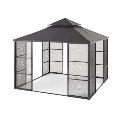 11 ft. x 11 ft. Aluminum Full Screen Sliding Door Gazebo