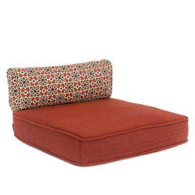 Fall River 19.5 x 20 Outdoor Dining Chair Cushion in Standard Chili