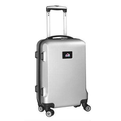 NHL Colorado Avalanche Silver 21 in. Carry-On Hardcase Spinner Suitcase