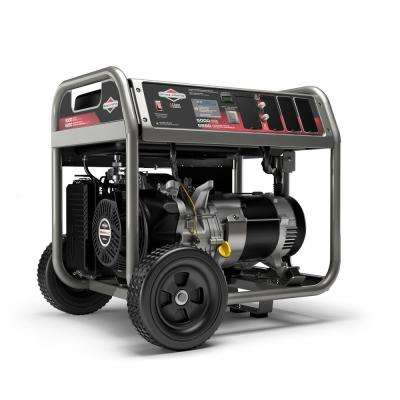 5,000-Watt Recoil Start Gasoline Powered Portable Generator with Briggs & Stratton Engine Featuring CO Guard