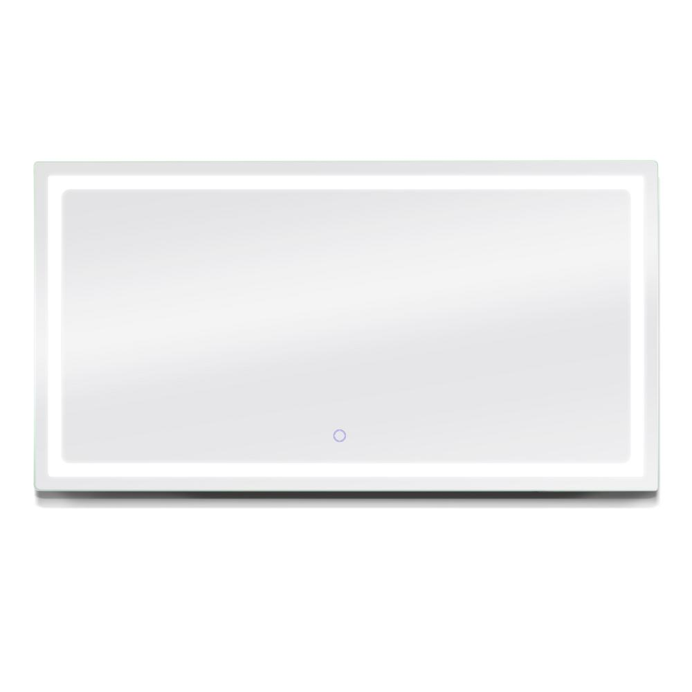 Dyconn Swan 72 in. W x 38 in. H LED Wall Mounted Backlit Vanity Bathroom Mirror with Touch On/Off Dimmer and Anti-Fog Function