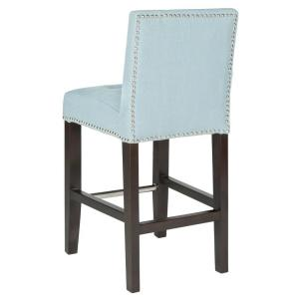 Enjoyable Safavieh Thompson 25 8 In Sky Blue Cushioned Bar Stool Lamtechconsult Wood Chair Design Ideas Lamtechconsultcom