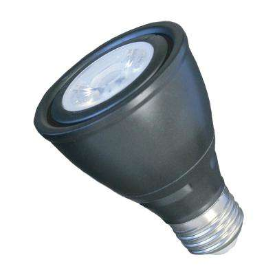 50-Watt Equivalent 7-Watt PAR20 Dimmable LED Flood Black Warm White 2700K Light Bulb 83048