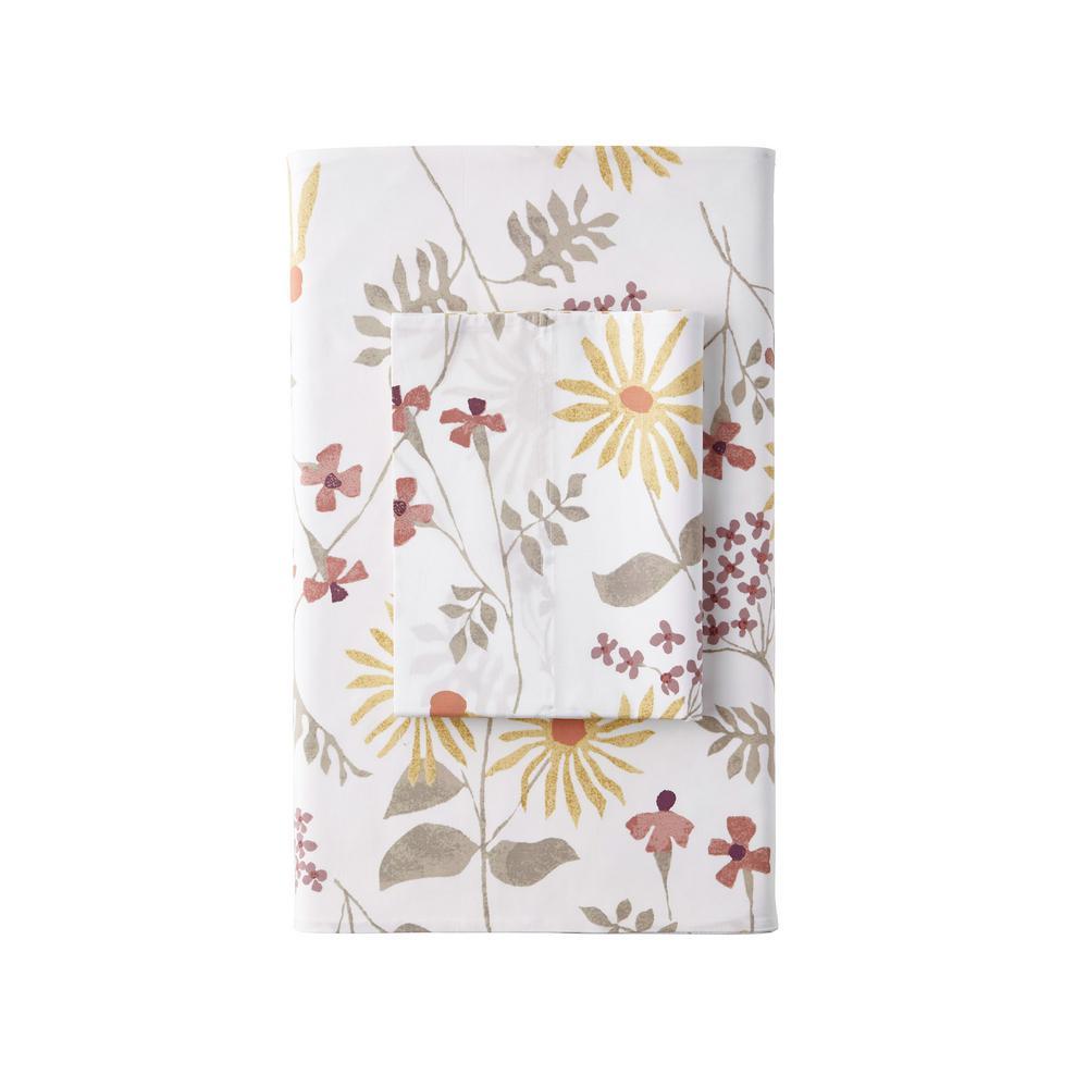 The Company Store Larkin Floral Organic Multi 300-Thread Count Cotton Percale