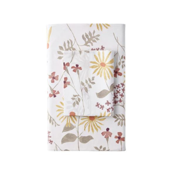 The Company Store Larkin Floral Organic 300-Thread Count Cotton Percale Standard