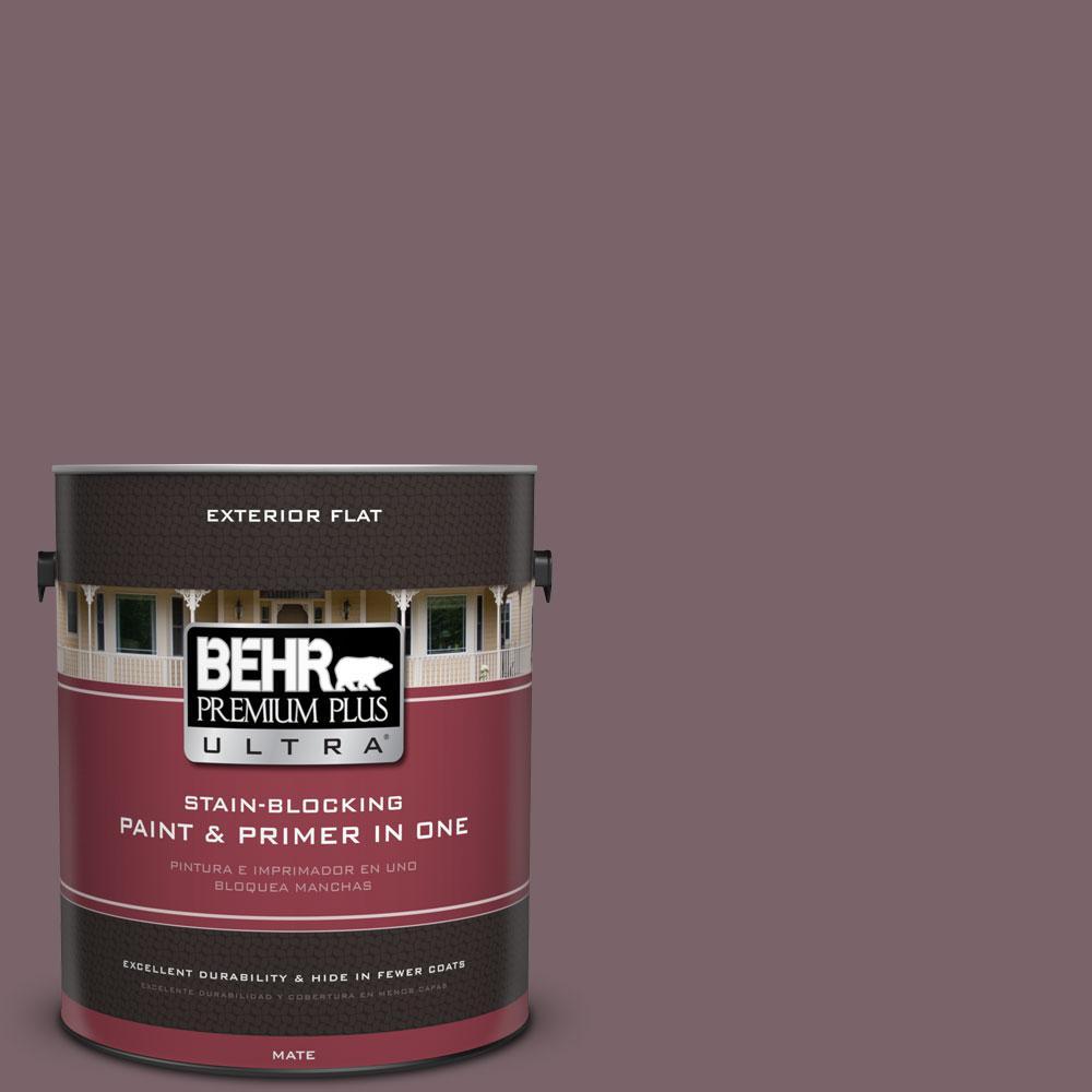 BEHR Premium Plus Ultra 1-gal. #100F-6 Plum Shade Flat Exterior Paint