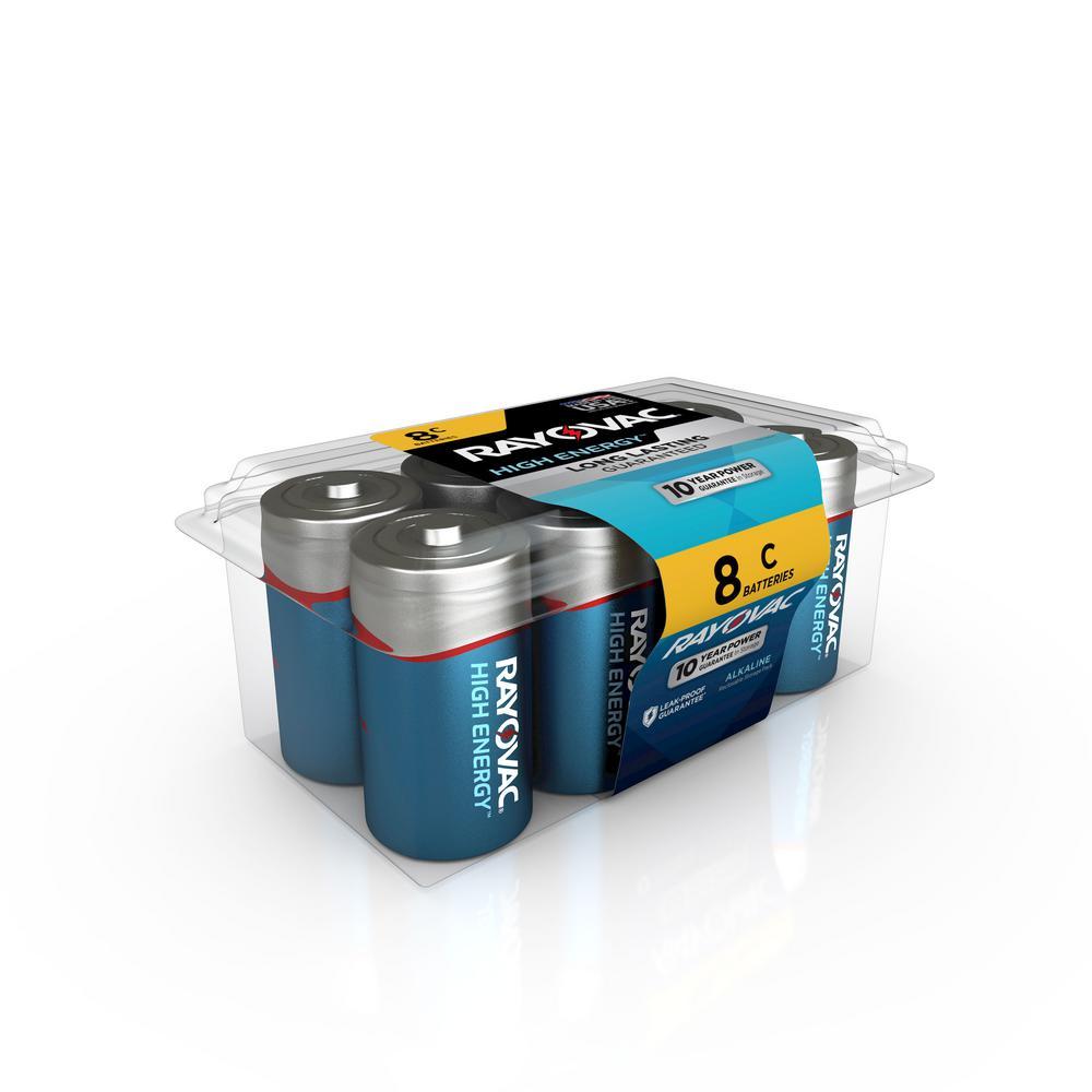 C Batteries, Alkaline C Cell Batteries (8 Count)