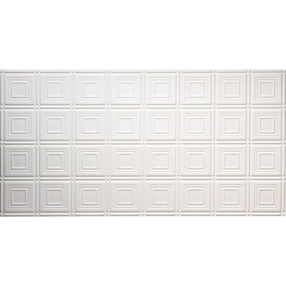 Plastic ceiling tiles ceilings the home depot dimensions faux 2 ft x 4 ft glue up tin style white ceiling dailygadgetfo Choice Image