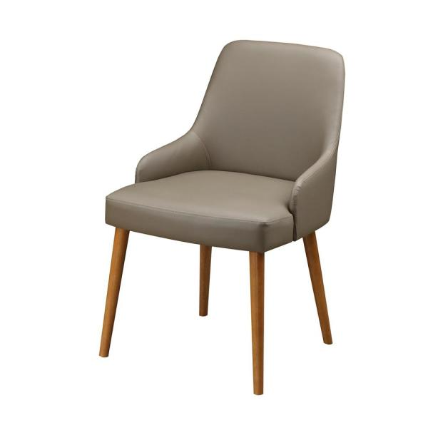 Techni Home Beige Faux Leather Modern Dining Chairs Set Of 2 Rta
