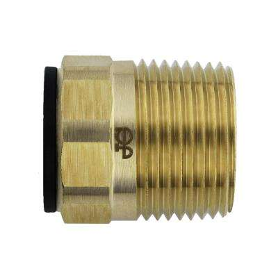 1/2 in. CTS x 3/4 in. NPT Brass ProLock Push-to-Connect Male Connector (10-Pack)