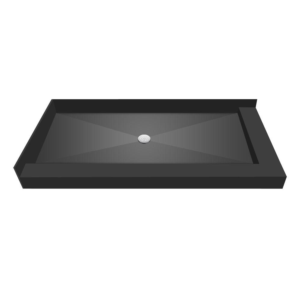 Tile Redi 30 in. x 54 in. Double Threshold Shower Base with Center Drain