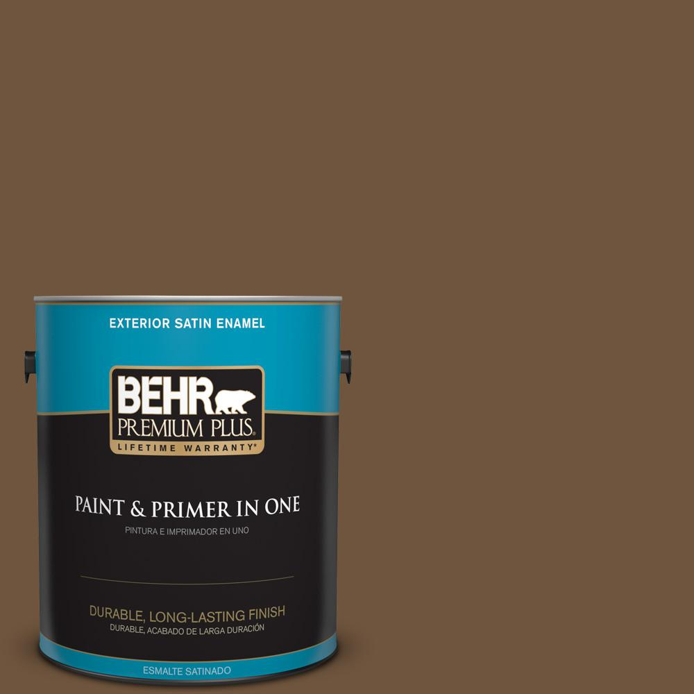 1 gal. #PPU4-20 Ancient Root Satin Enamel Exterior Paint