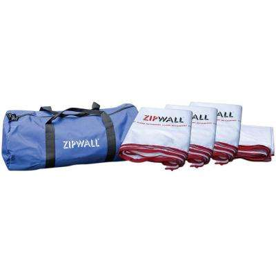17.5 ft. x 48 ft. Flame Retardant Barrier Panel Multipack Kit with Carry Bag