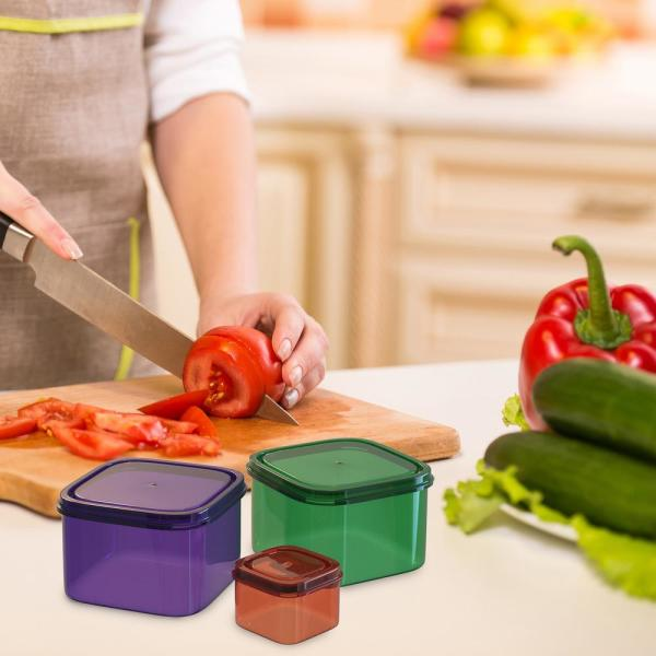 7 -Piece Color Coded Portion Control Meal Prep Containers