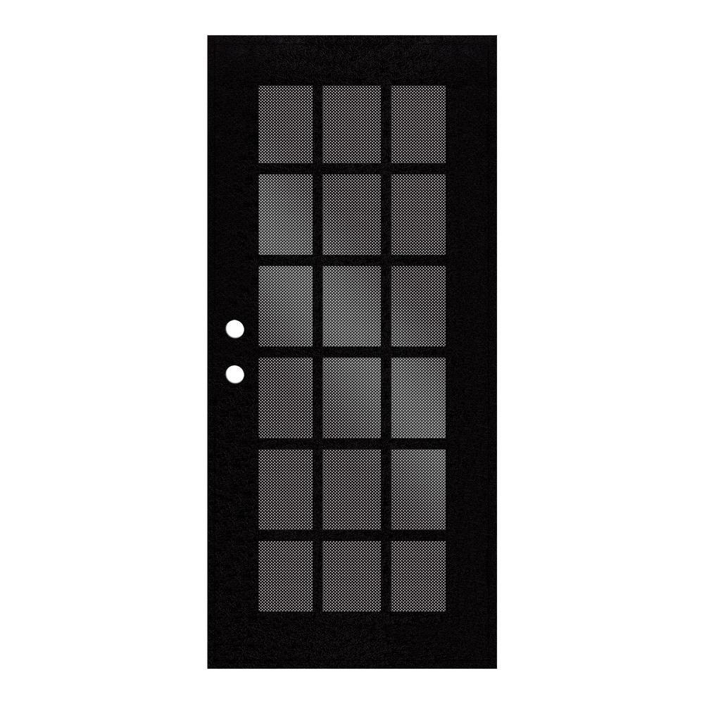 Unique Home Designs 30 In X 80 In Classic French Black