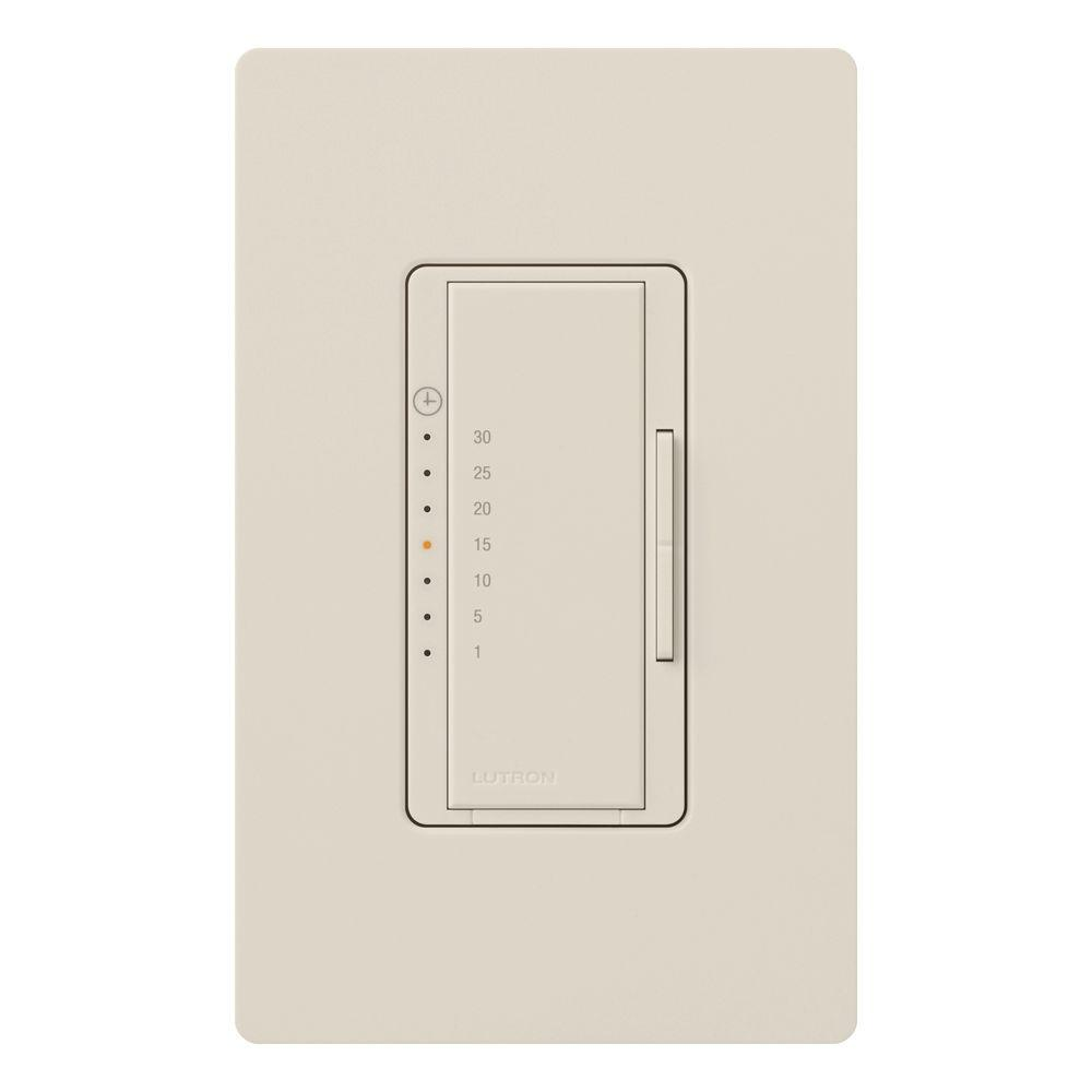 Maestro 5 Amp Countdown In-Wall Digital Eco-Timer - Light Almond