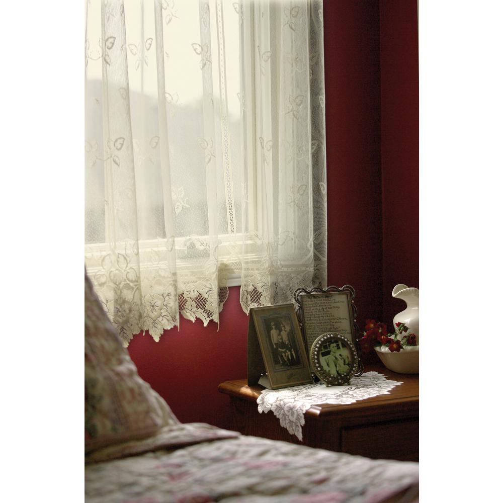 Heirloom Ecru Lace Curtain 60 in. W 45 in. L