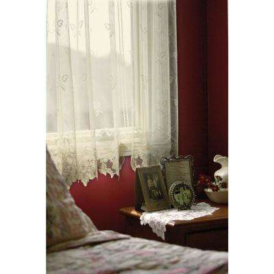 Heirloom Ecru Lace Curtain 60 in. W 45 in. L