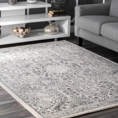 Minta Modern Persian Gray 8 ft. x 10 ft. Area Rug