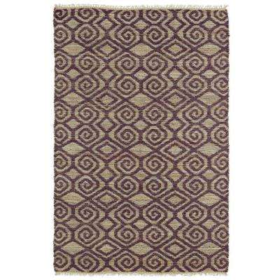 Kenwood Plum 8 ft. x 11 ft. Double Sided Area Rug