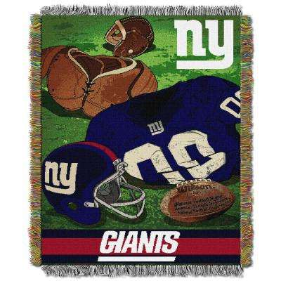 NY Giants Multi Color Tapestry Vintage Blanket