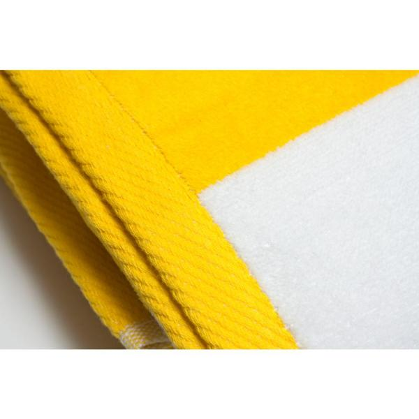 Yellow Cabana Ombre Beach Towel-Resort Quality