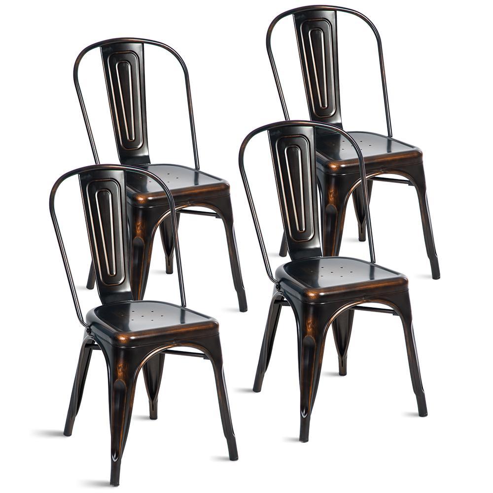 Javier Black Dining Chair (Set of 4)