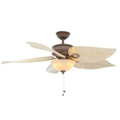 Costa Mesa 56 in. Indoor/Outdoor Weathered Zinc Ceiling Fan with Light Kit