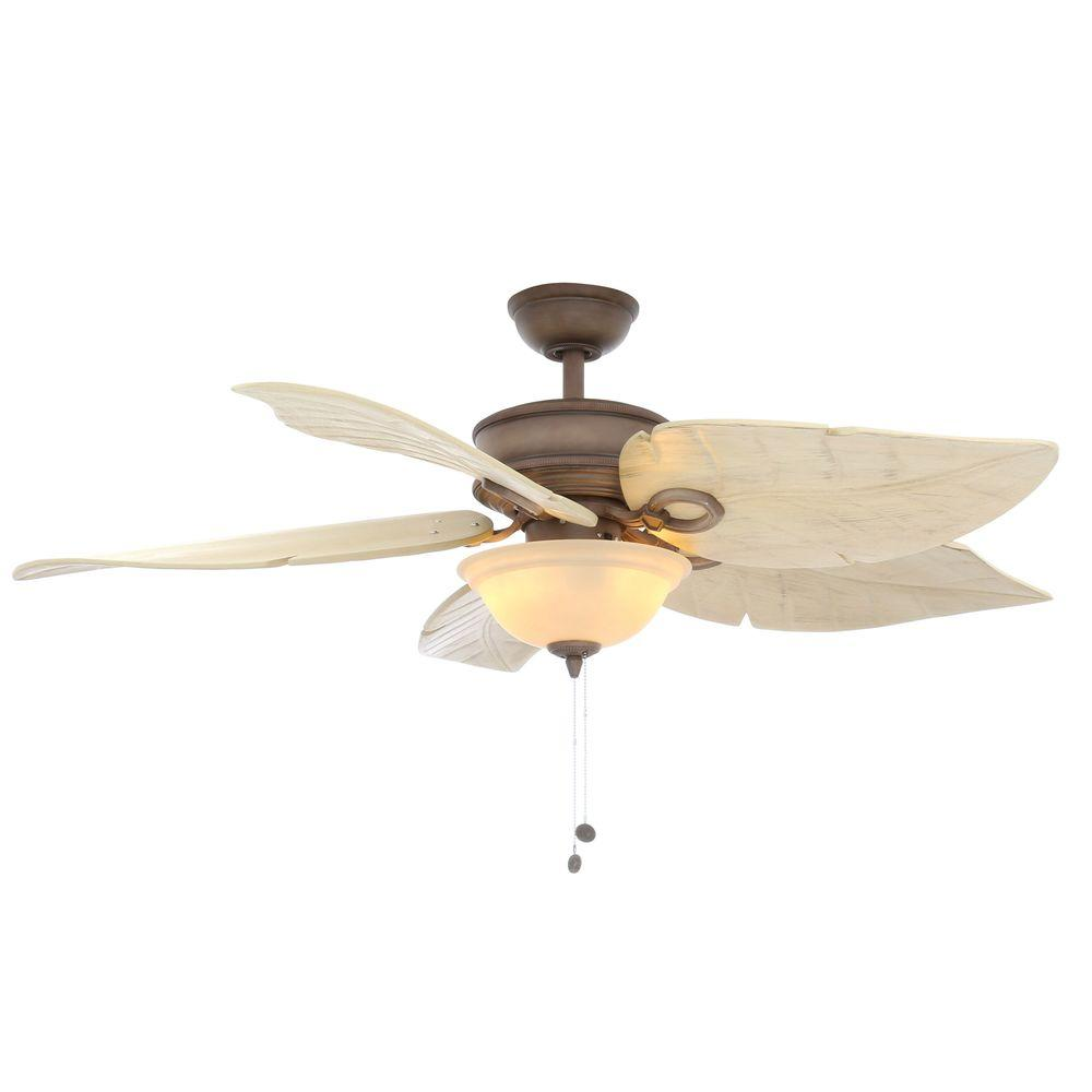 Hampton Bay Costa Mesa 56 In Led Indoor Outdoor Weathered Zinc Ceiling Fan With Light Kit 52656 The Home Depot
