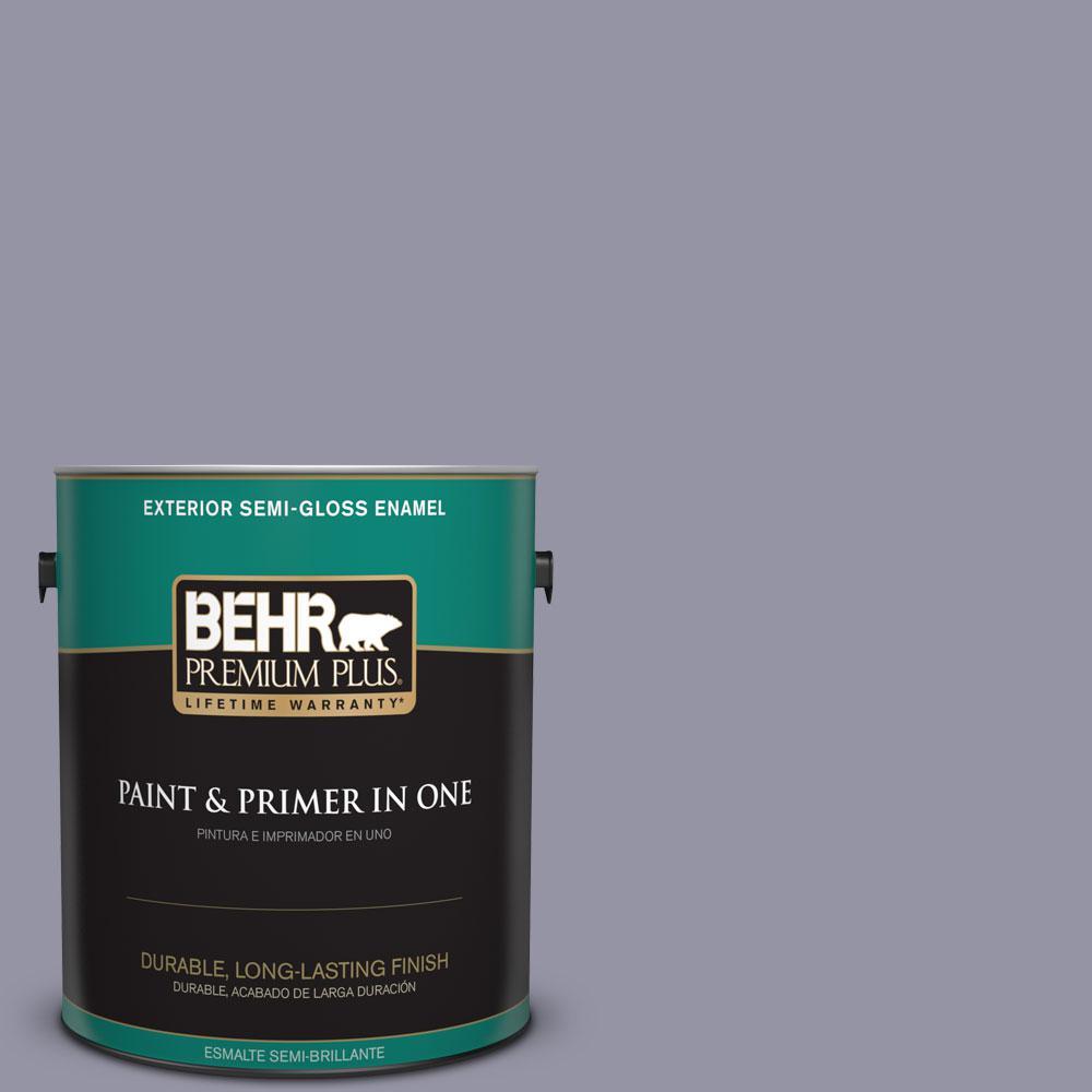 1-gal. #640F-5 Ash Violet Semi-Gloss Enamel Exterior Paint
