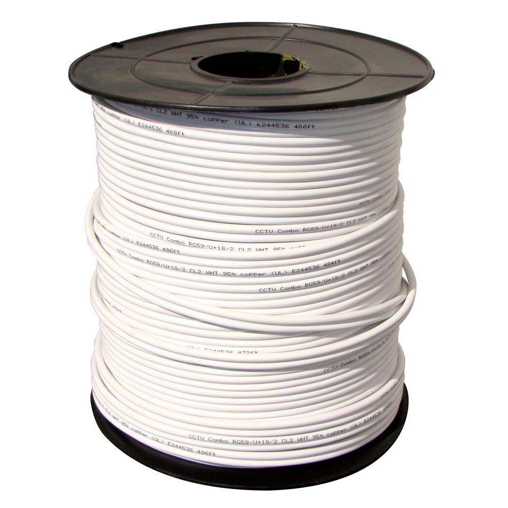 Q-SEE 1000 ft. Power Cable with RG-59 and 2 Copper-Wire for Power ...