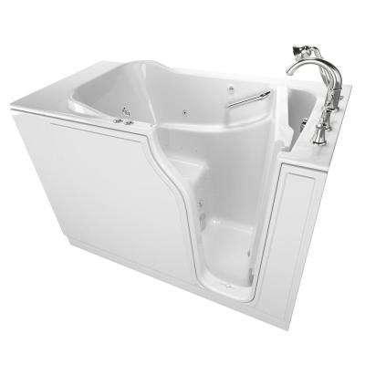 Gelcoat Value Series 4.2 ft. Walk-In Whirlpool and Air Bathtub in White