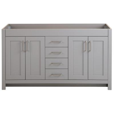 Westcourt 60 in. W x 21 in. D x 34 in. H Bath Vanity Cabinet Only in Sterling Gray