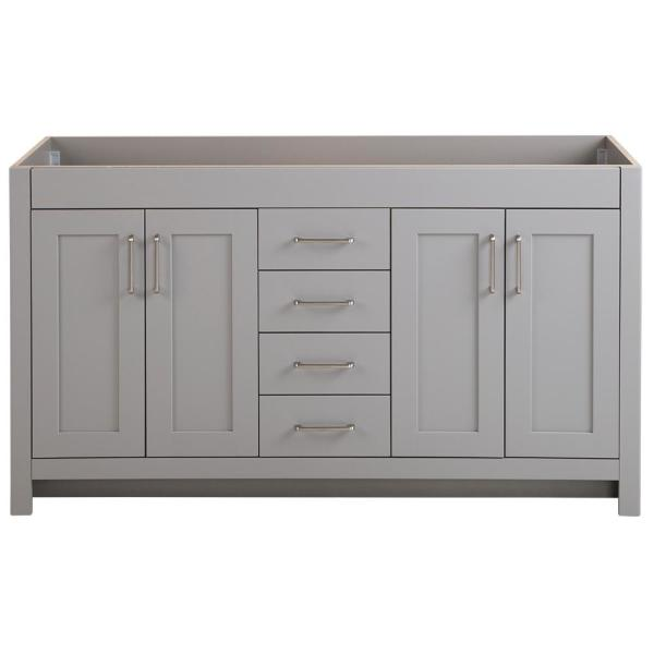 Home Decorators Collection Westcourt 60 In W X 21 In D X 34 In H Bath Vanity Cabinet Only In Sterling Gray Wt60 St The Home Depot