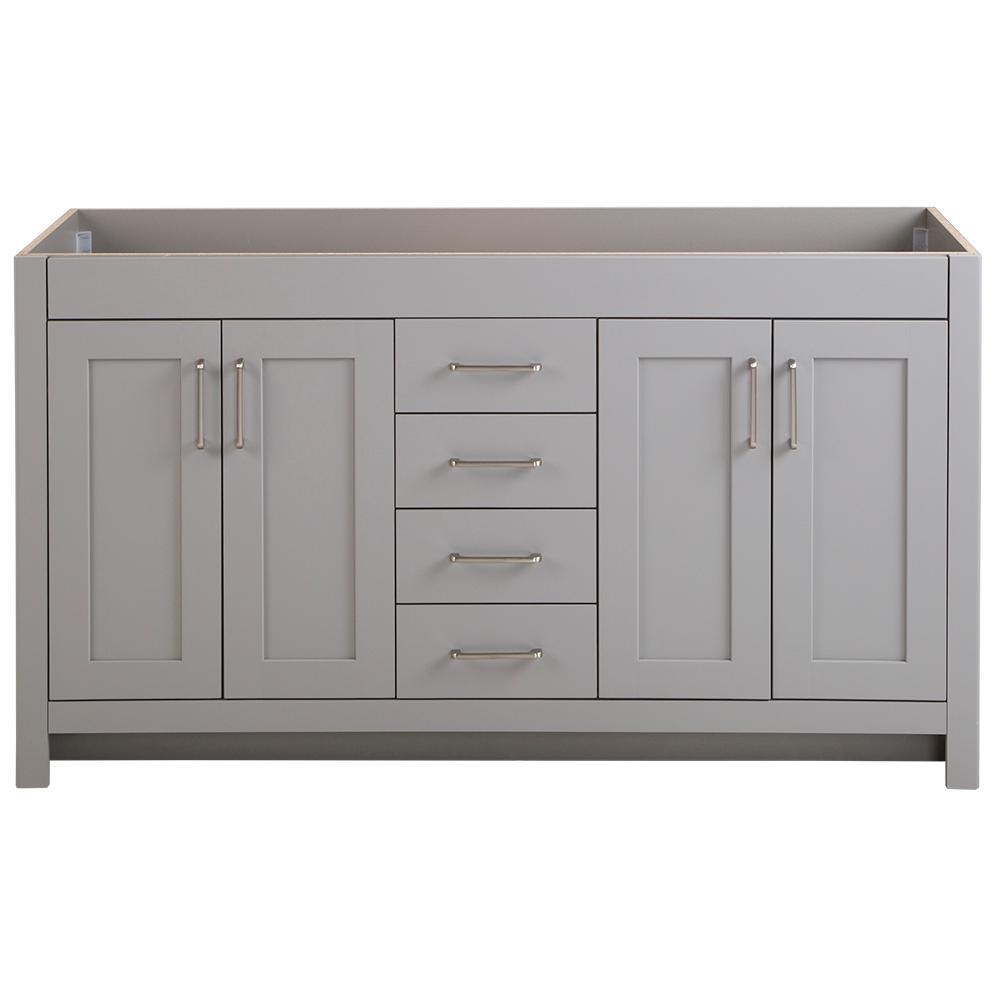 Westcourt 60 in. W x 21 in. D x 34 in. H Bath Vanity Cabinet Only in Sterling Gray
