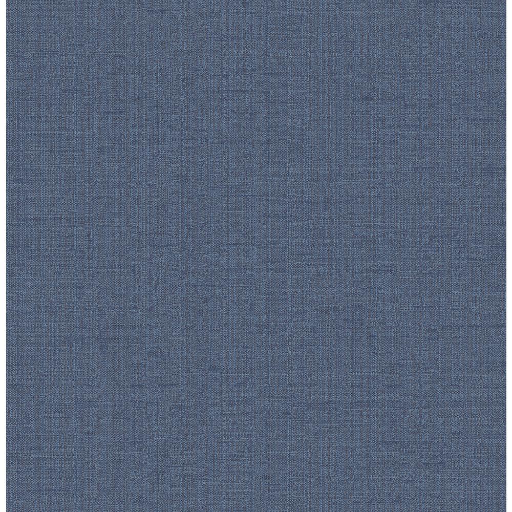 Chelsea Blue Weave Washable Wallpaper Sample