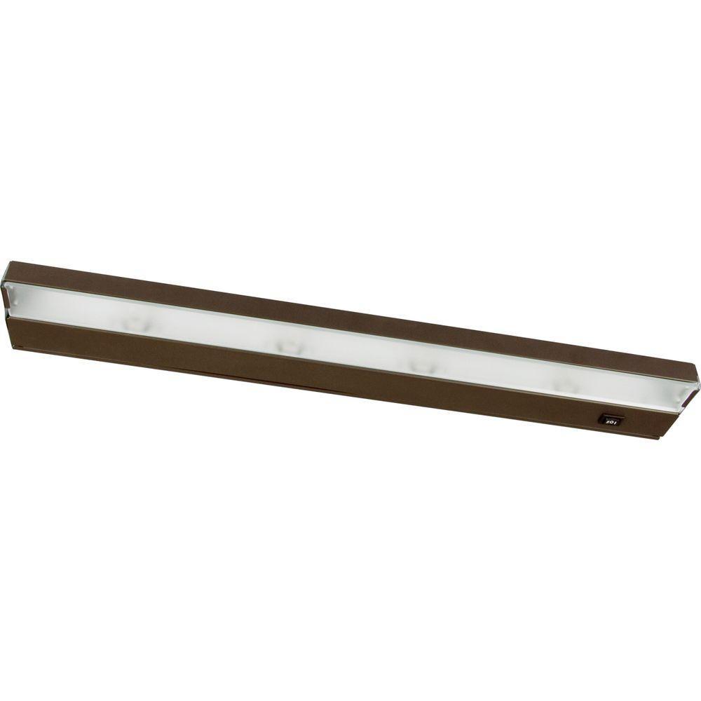 Hide-a-Lite III Antique Bronze 4-Light Undercabinet Fixture