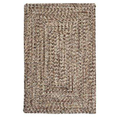 Wesley Weathered Brown 4 ft. x 6 ft. Braided Area Rug