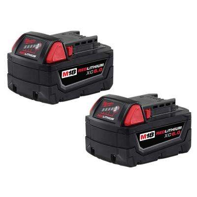 M18 18-Volt Lithium-Ion XC Extended Capacity Battery Pack 6.0Ah (2-Pack)